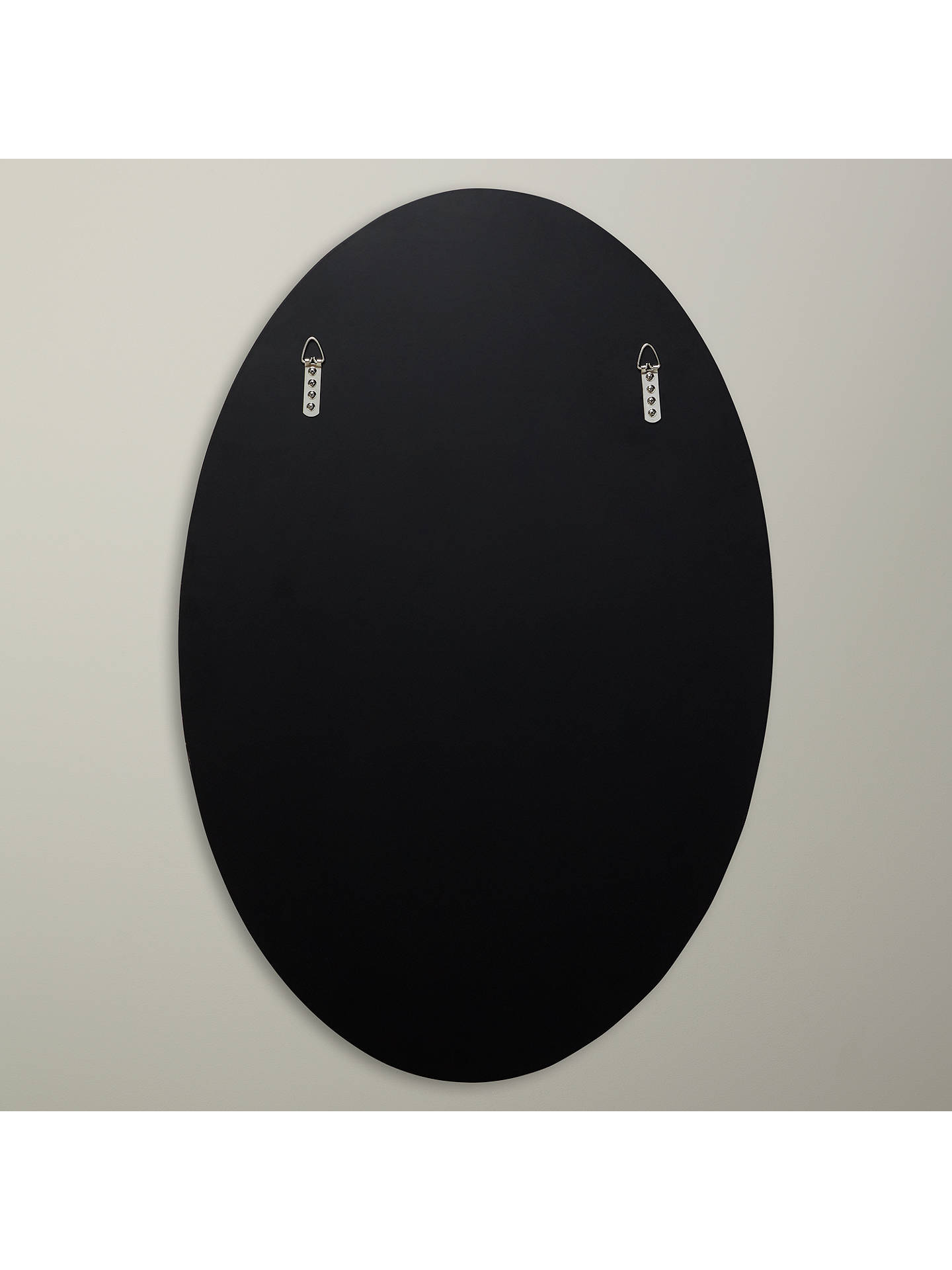 BuyJohn Lewis & Partners Engraved Oval Mirror, 90 x 60cm, Smoke Online at johnlewis.com