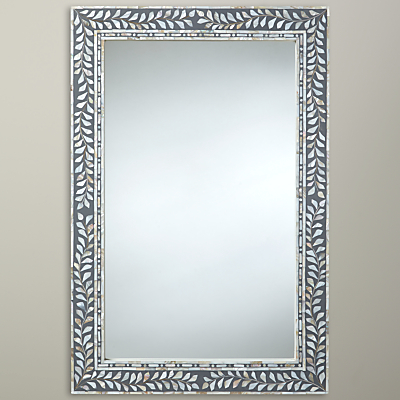 John Lewis Mother Of Pearl Mirror, 60 x 90cm