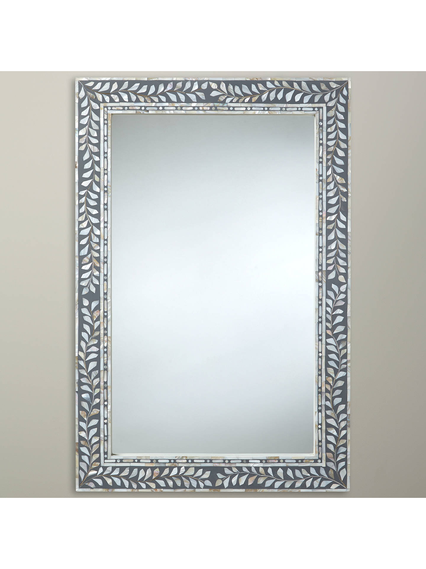 John Lewis Amp Partners Mother Of Pearl Mirror 60 X 90cm At