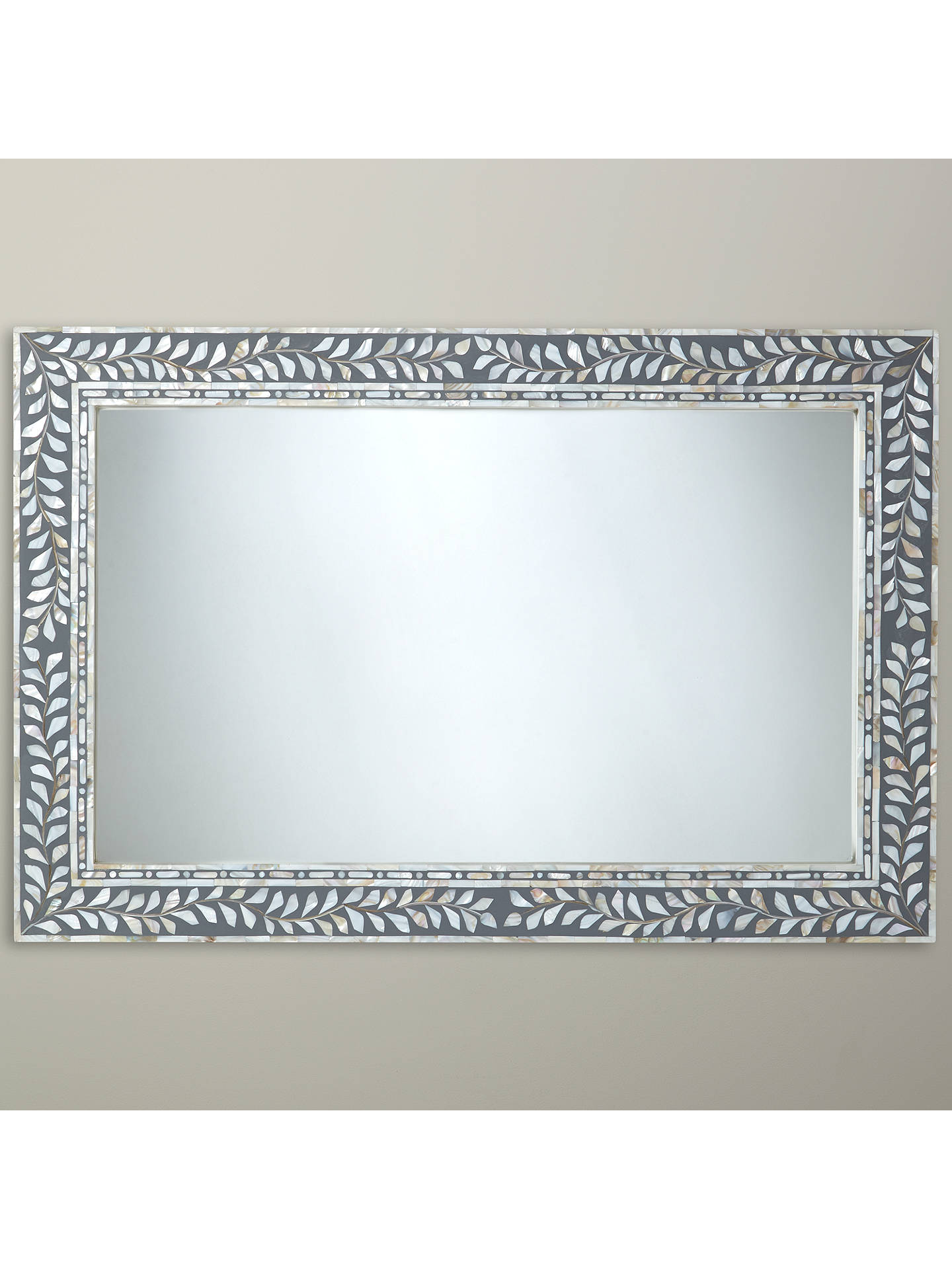 Buyjohn lewis partners mother of pearl mirror 60 x 90cm natural online at