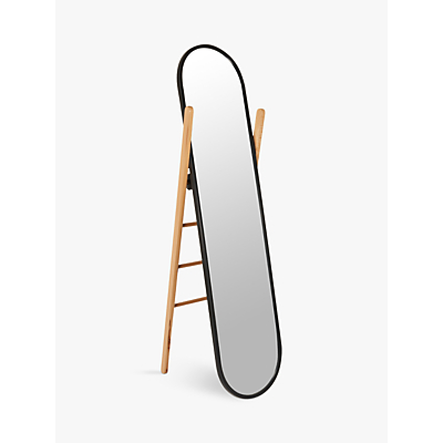 Umbra Hub Cheval Mirror, 158 x 58.5cm, Black