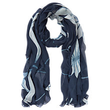 Buy Mint Velvet Natalie Oversized Print Scarf, Blue Online at johnlewis.com