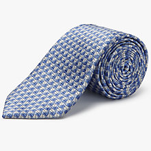 Buy Chester by Chester Barrie Grain Pattern Silk Tie, Blue/Silver Online at johnlewis.com