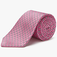 Buy Chester by Chester Barrie Spot Silk Tie, Pink/White Online at johnlewis.com