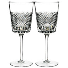 Buy Waterford Diamond Line Crystal Wine Glass, 300ml, Set of 2 Online at johnlewis.com