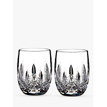 Buy Waterford Lismore Connoisseur Rounded Crystal Glass Whisky Tumblers, 207ml, Set of 2 Online at johnlewis.com