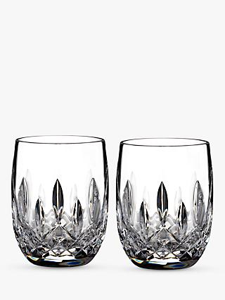 Waterford Lismore Connoisseur Rounded Crystal Glass Whisky Tumblers, 207ml, Set of 2