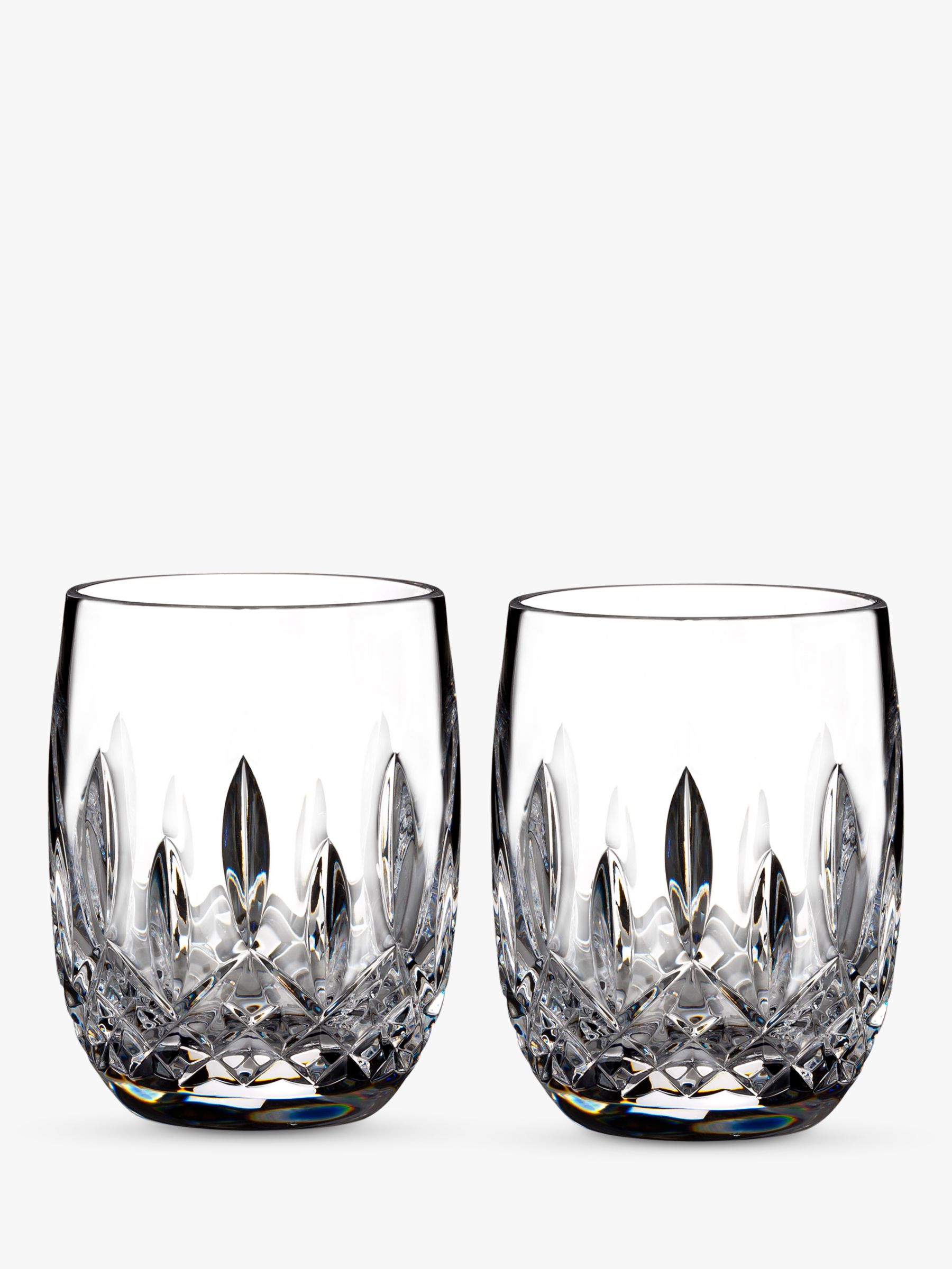 Waterford Waterford Lismore Connoisseur Rounded Crystal Glass Whisky Tumblers, 207ml, Set of 2