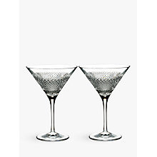 Buy Waterford Diamond Line Crystal Martini Glass, 200ml, Set of 2 Online at johnlewis.com