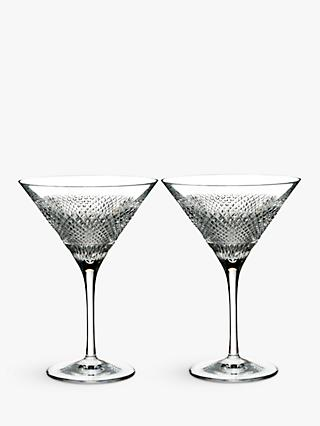 Waterford Diamond Line Crystal Martini Glass, 200ml, Set of 2