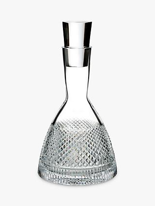 Waterford Diamond Line Crystal Glass Decanter, 750ml