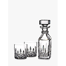 Buy Waterford Lismore Connoisseur Square Cut Lead Crystal Glass Decanter and Tumblers Set, 3 Pieces Online at johnlewis.com