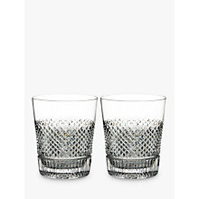 Buy Waterford Diamond Line Crystal Whisky Glass, 290ml, Set of 2 Online at johnlewis.com