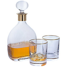 Buy Dartington Crystal Special Edition Lead Crystal Decanter Set, Clear, 3 Pieces Online at johnlewis.com