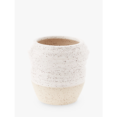 west elm Speckled Texture Extra Small Vase, White