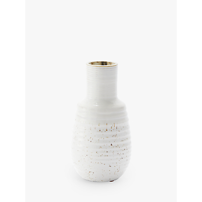 west elm Speckled Texture Small Vase, White