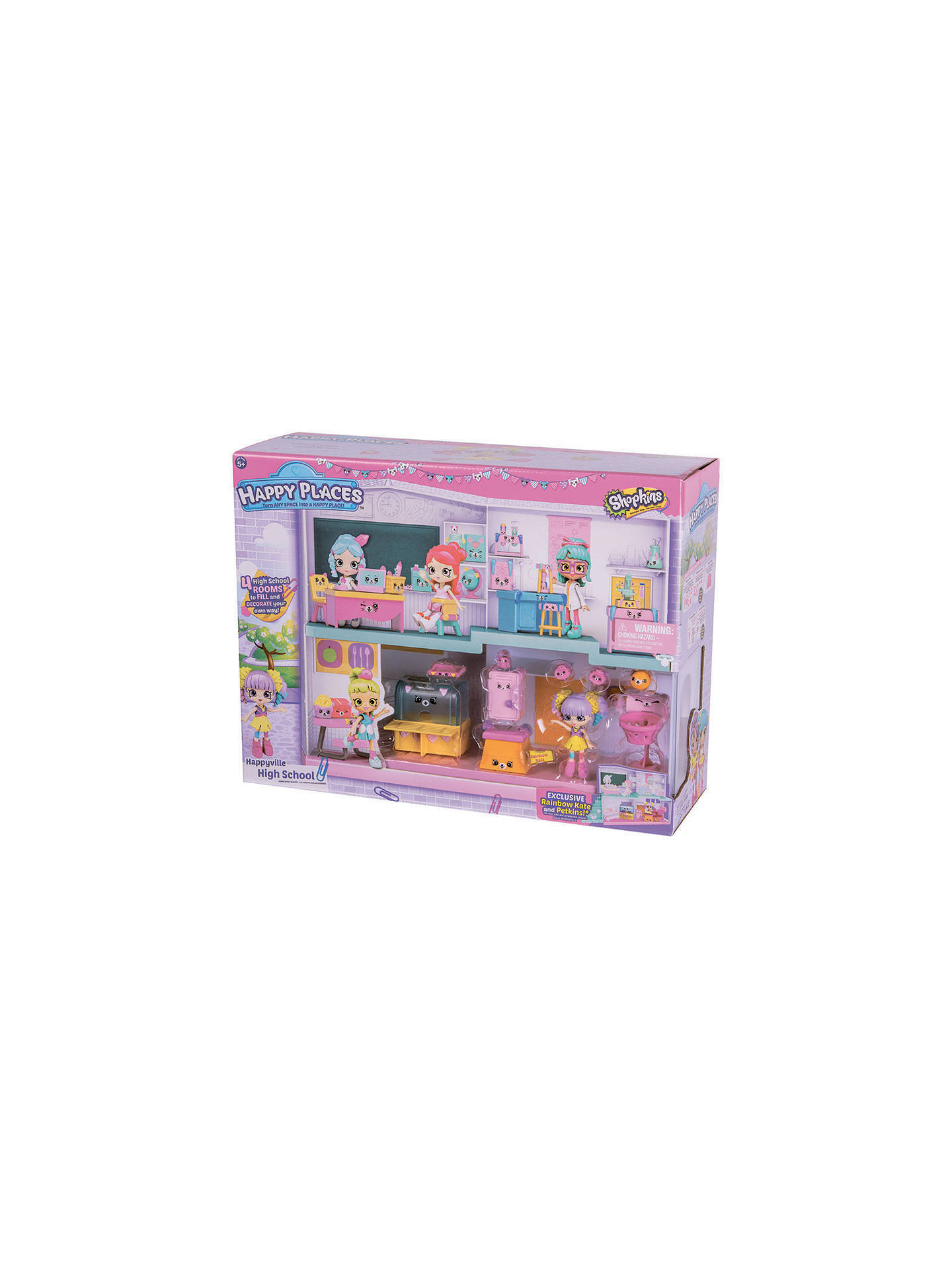 Shopkins Happy Places Happyville High School Playset At John Lewis