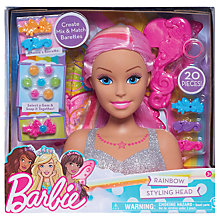 Buy Barbie Dreamtopia Rainbow Styling Head Online at johnlewis.com