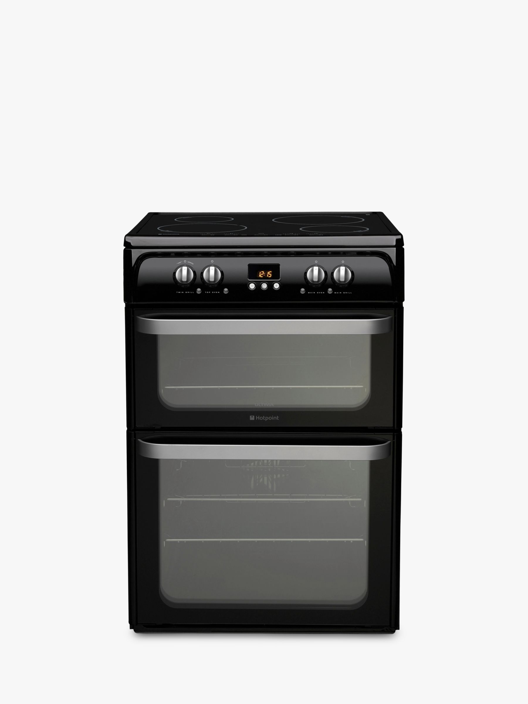 Hotpoint Hotpoint HUI614 K Double Electric Cooker, Black