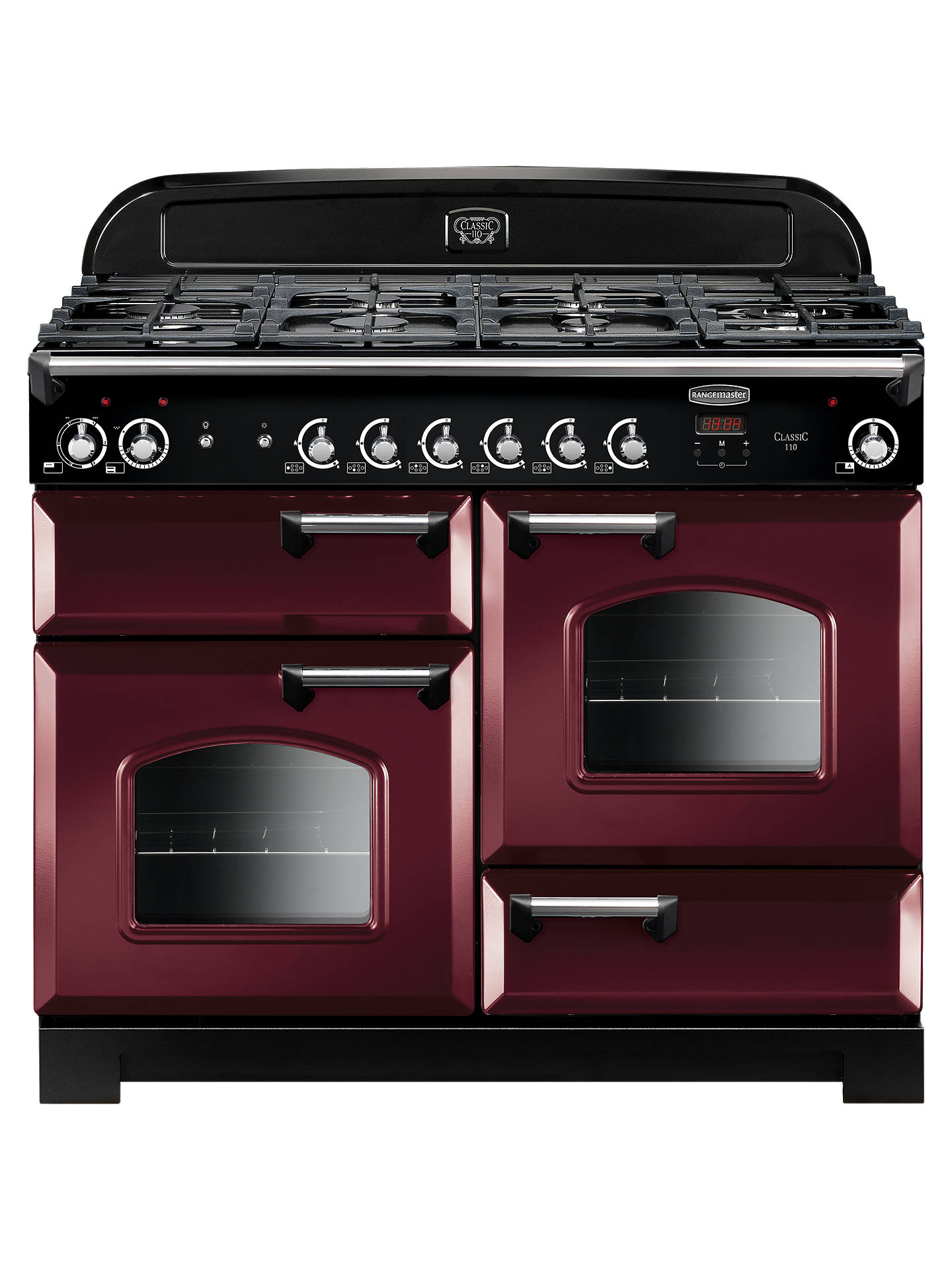 Buy Rangemaster Classic 110 Dual Fuel Range Cooker, Cranberry Online at johnlewis.com