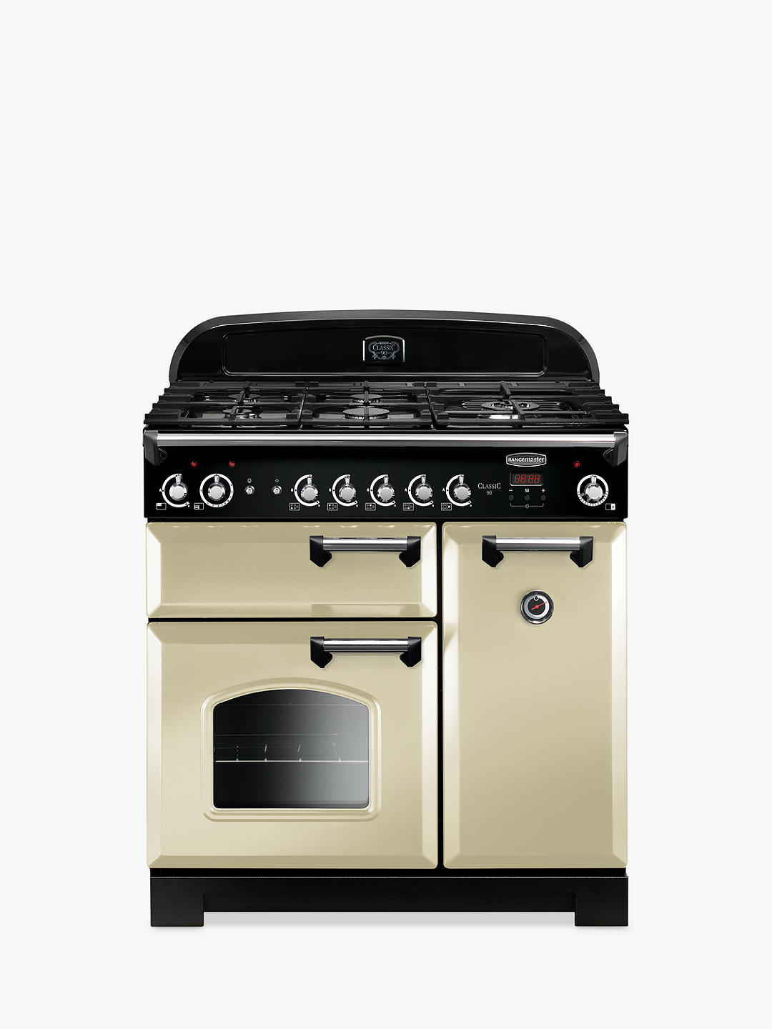 Buy Rangemaster Classic 90 Gas Range Cooker, Cream Online at johnlewis.com