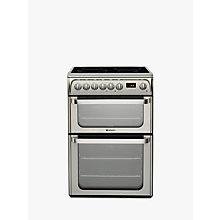 Buy Hotpoint HUI611 X Electric Range Cooker, Stainless Steel Online at johnlewis.com