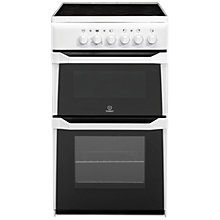 Buy Indesit IT50C(W) S Freestanding Electric Double Cooker, White Online at johnlewis.com