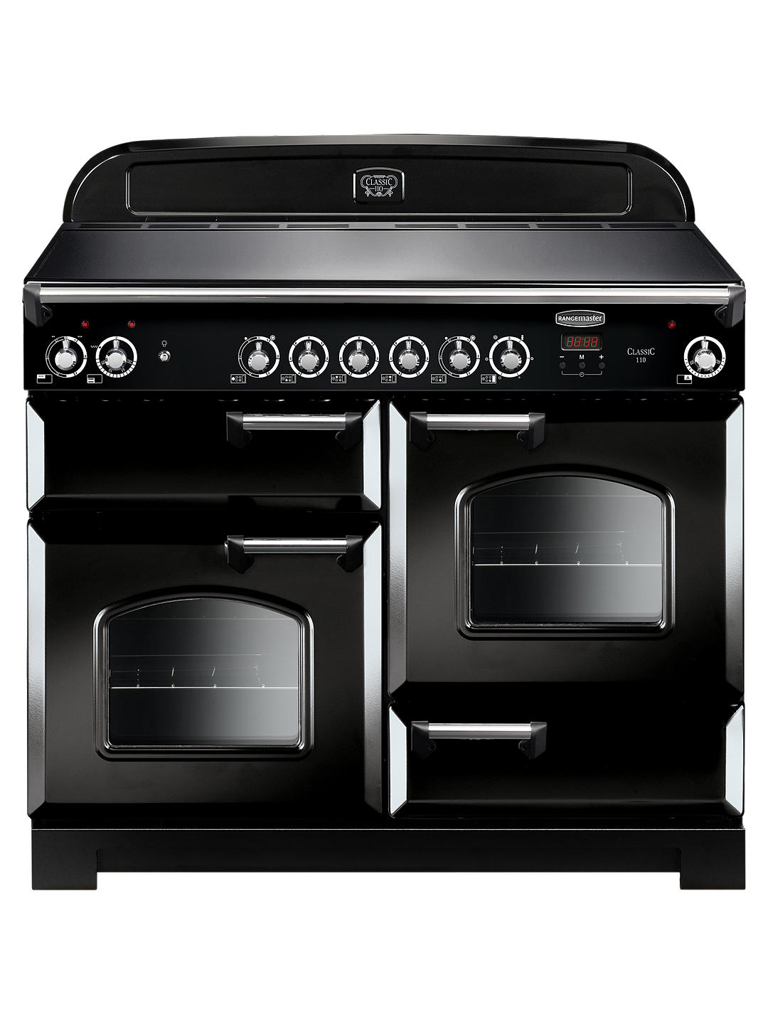 Buy Rangemaster Classic 110 Electric Range Cooker, Black Online at johnlewis.com