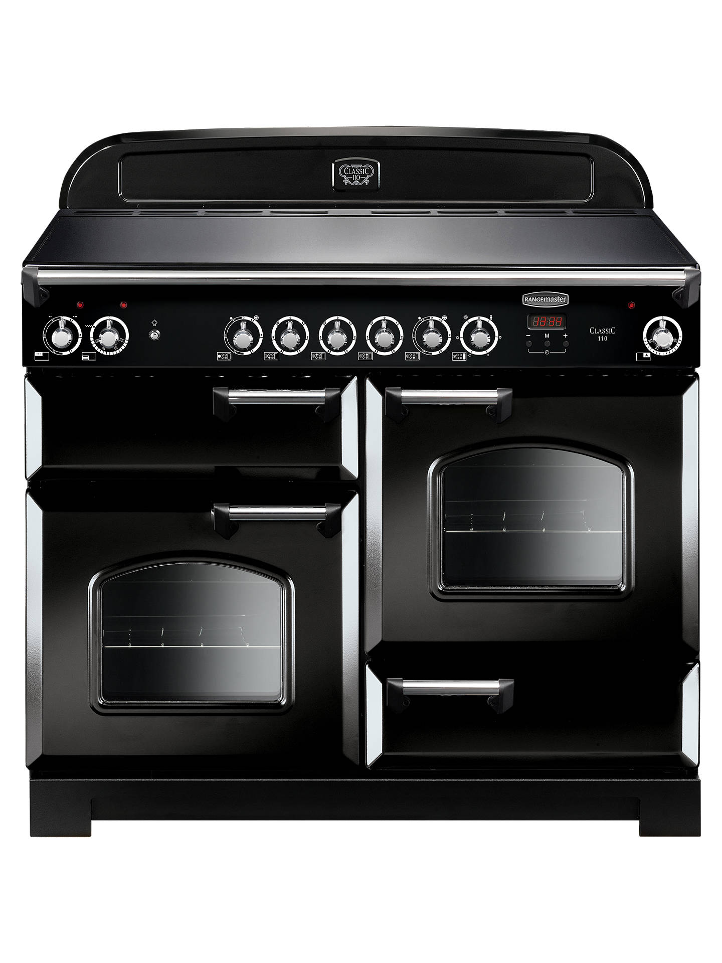 BuyRangemaster Classic 110 Electric Range Cooker, Black Online at johnlewis.com