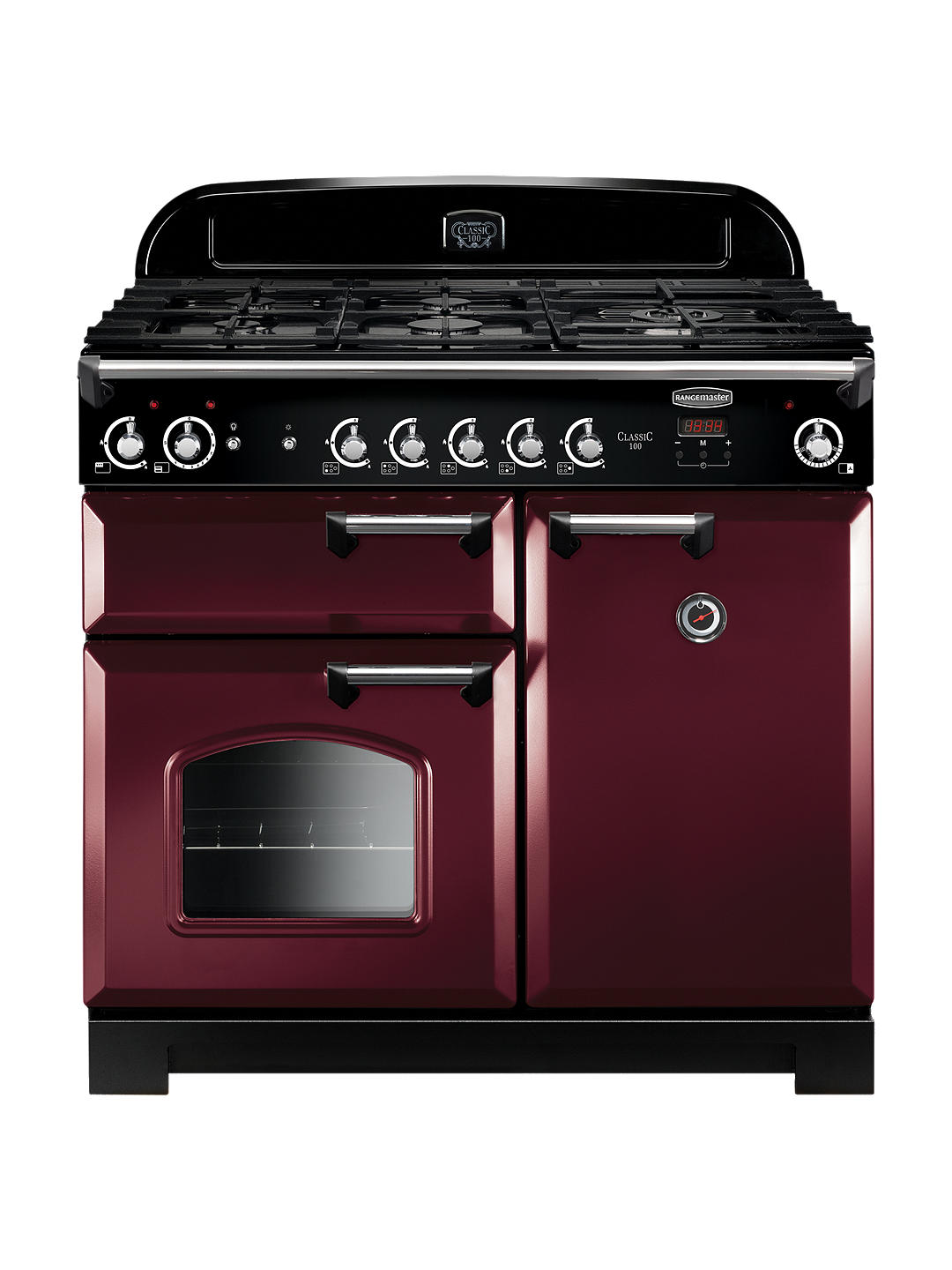 Buy Rangemaster Classic 100 Gas Range Cooker, Cranberry Online at johnlewis.com