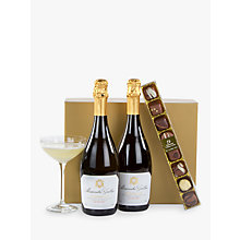 Buy John Lewis Prosecco Duo and Chocolates Gift Box Online at johnlewis.com
