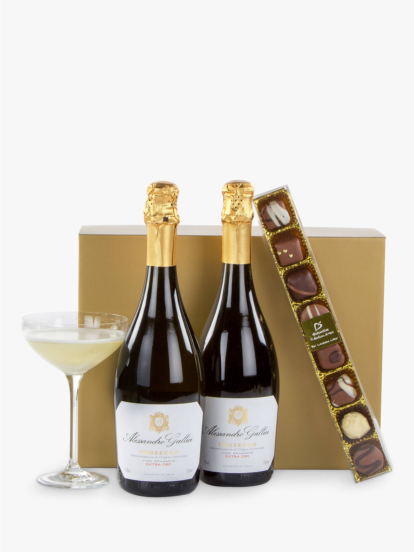 John Lewis Partners Prosecco Duo And Chocolates Gift Box At John