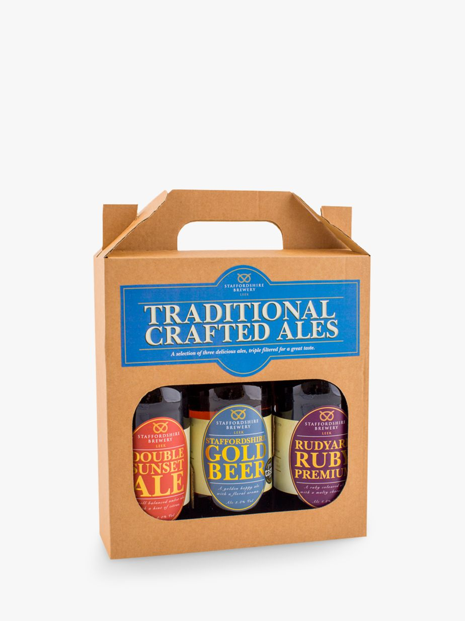 Staffordshire Brewery Staffordshire Brewery Traditional Crafted Ales, Box of 3, 1.5L