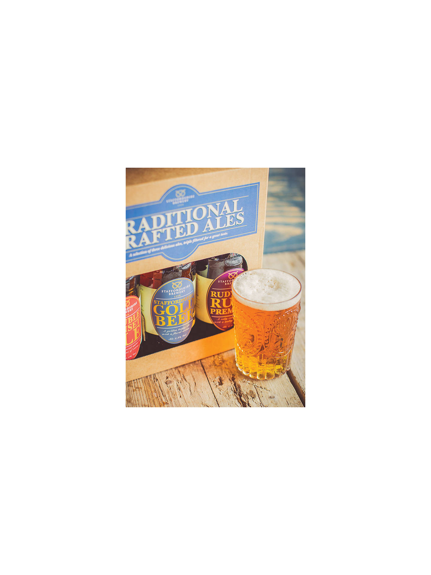 BuyStaffordshire Brewery Traditional Crafted Ales, Box of 3, 1.5L Online at johnlewis.com