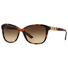 Buy Versace VE4293B Square Sunglasses, Tortoise/Brown Gradient Online at johnlewis.com