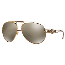 Buy Versace VE2160 Aviator Sunglasses Online at johnlewis.com
