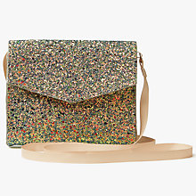 Buy John Lewis Children's Glitter Bag, Gold Online at johnlewis.com