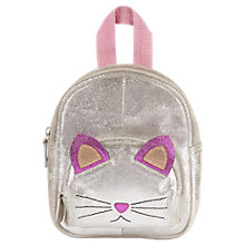 Buy Jigsaw Children's Cat Backpack, Silver Online at johnlewis.com
