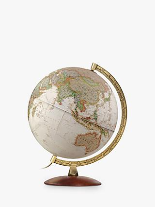 National Geographic Executive Brass Edge Globe, Brown, 30cm