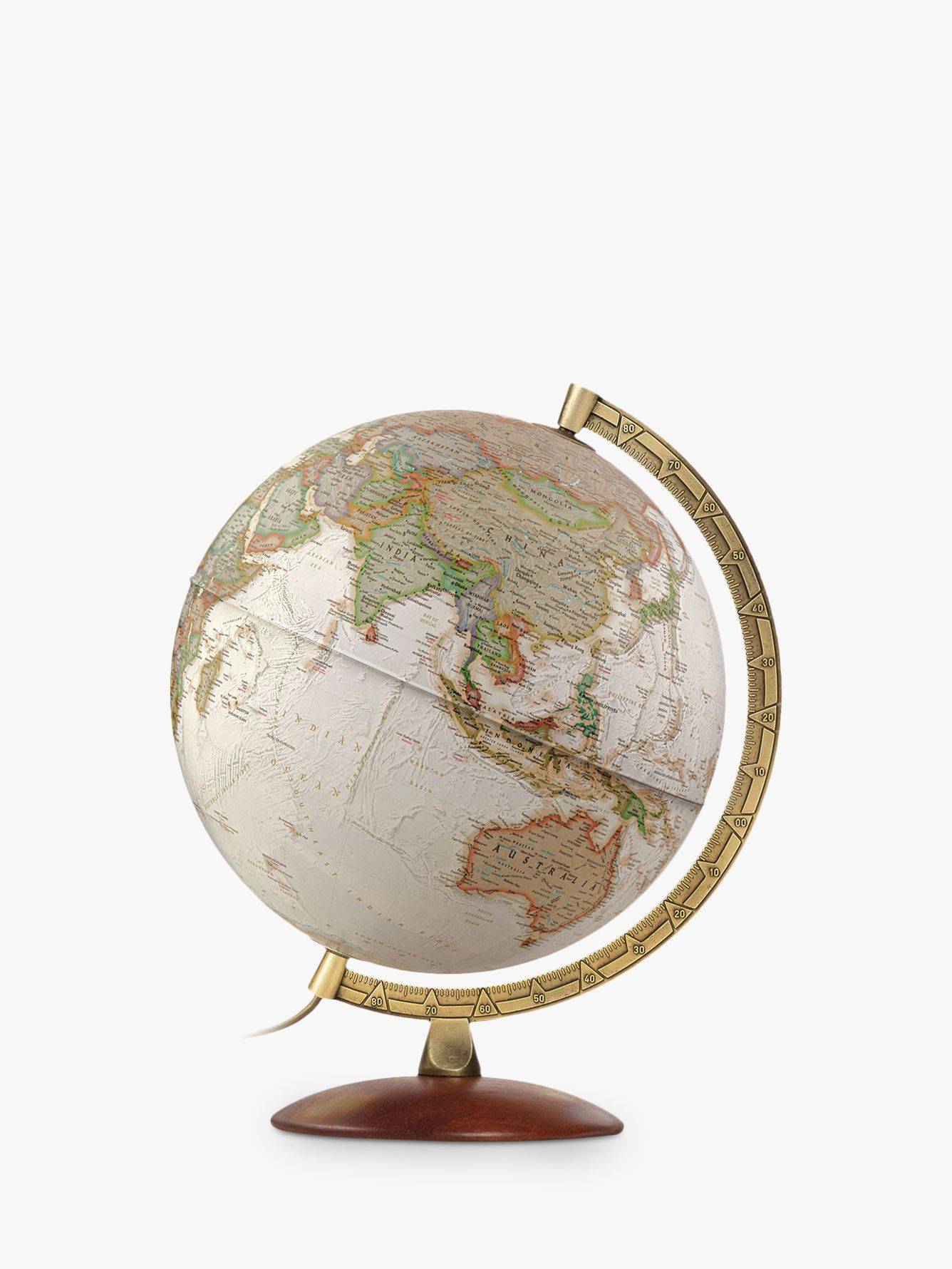 National Geographic National Geographic Executive Brass Edge Globe, Brown, 30cm