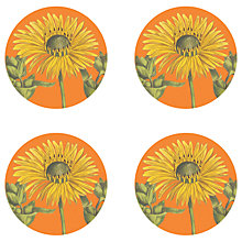 Buy Gadd & Co Sunflower Coasters, Glass, Set of 4 Online at johnlewis.com