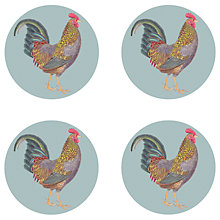 Buy Gadd & Co Cockerel Coasters, Glass, Set of 4 Online at johnlewis.com