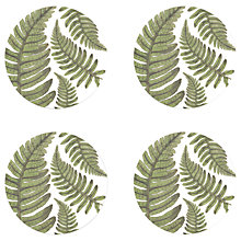 Buy Gadd & Co Fern Coasters, Glass, Set of 4 Online at johnlewis.com