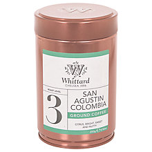 Buy Whittard San Agustin Columbia Ground Coffee, 250g Online at johnlewis.com