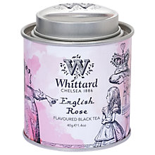 Buy Whittard Alice English Rose Tea Caddy, 40g Online at johnlewis.com