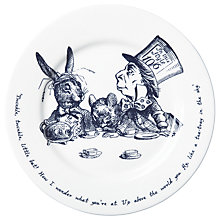Buy Whittard Alice in Wonderland Illustrated Plate, Dia.21cm Online at johnlewis.com