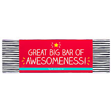 Buy Happy Jackson Great Bar of Awesomeness Milk Chocolate, 1kg Online at johnlewis.com