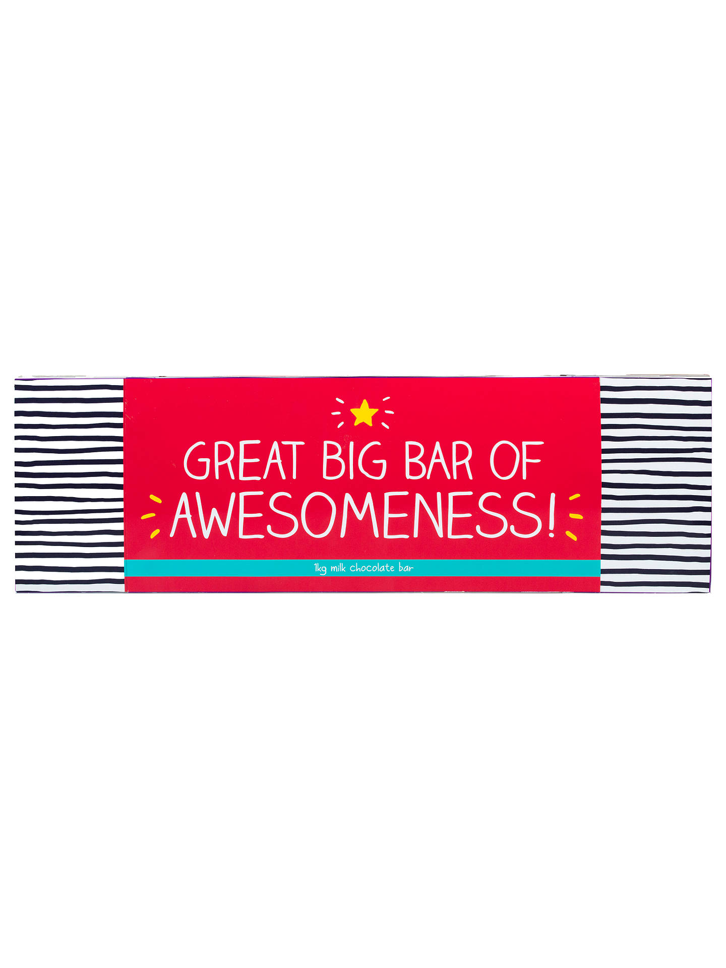 BuyHappy Jackson Great Bar of Awesomeness Milk Chocolate, 1kg Online at johnlewis.com