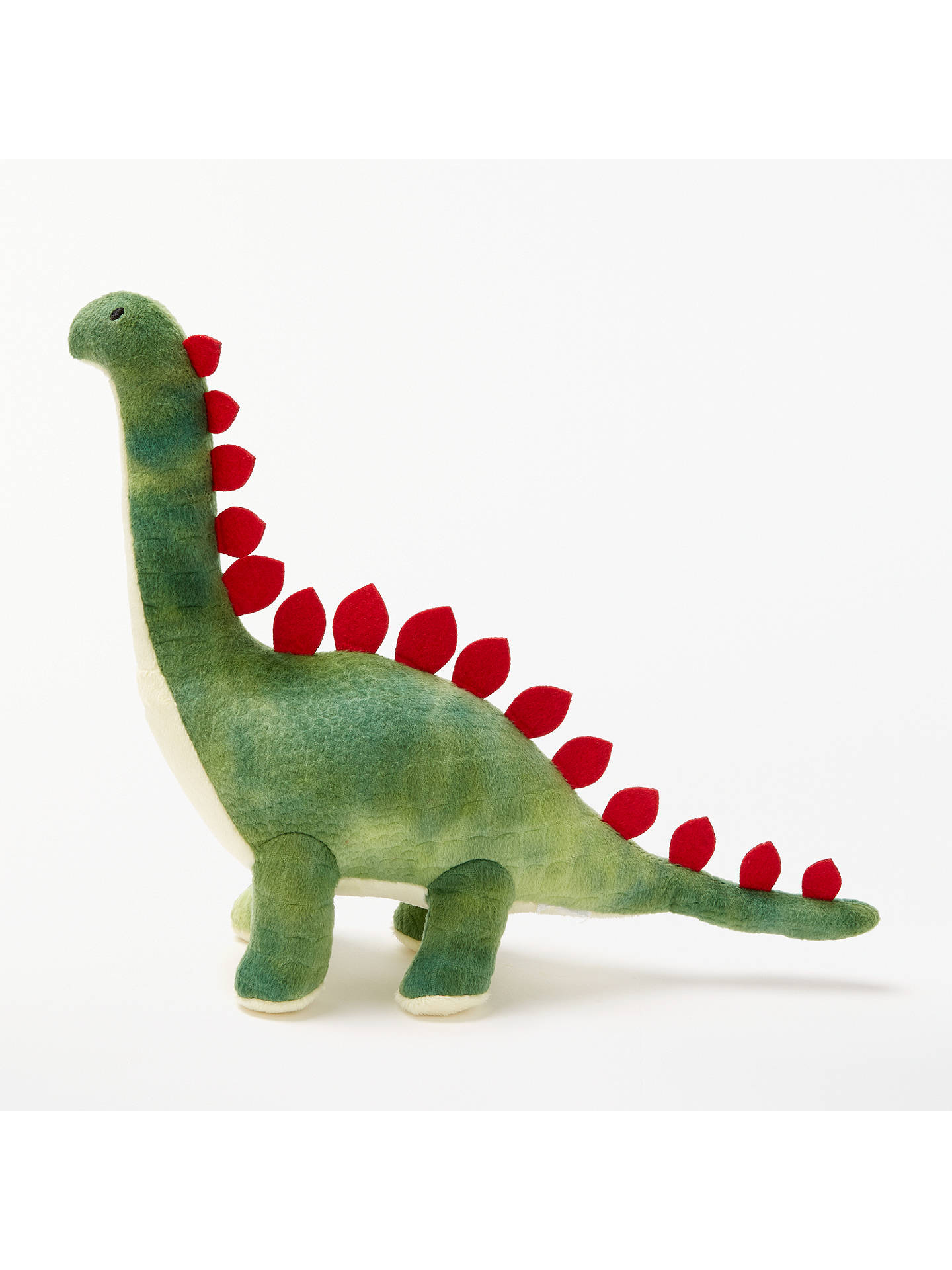 BuyJohn Lewis & Partners Textured Dinosaur Plush Soft Toy, Green Online at johnlewis.com