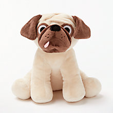 Buy John Lewis Pug Plush Soft Toy, Brown Online at johnlewis.com